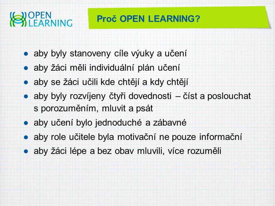 Proč OPEN LEARNING.