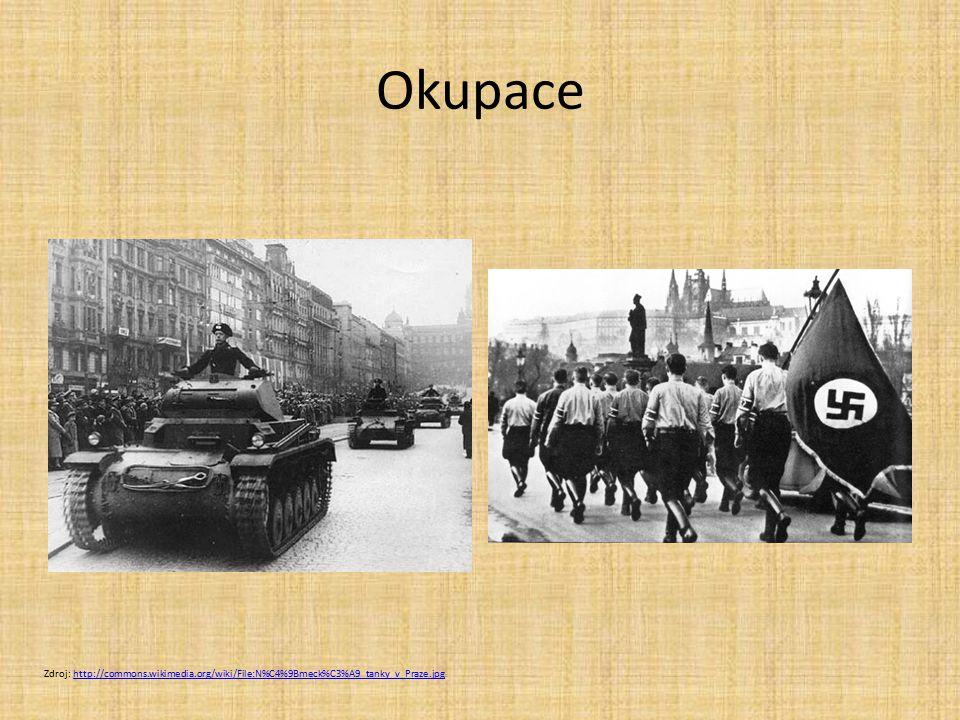 Okupace Zdroj: http://commons.wikimedia.org/wiki/File:N%C4%9Bmeck%C3%A9_tanky_v_Praze.jpghttp://commons.wikimedia.org/wiki/File:N%C4%9Bmeck%C3%A9_tank
