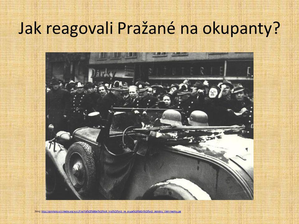 Jak reagovali Pražané na okupanty.