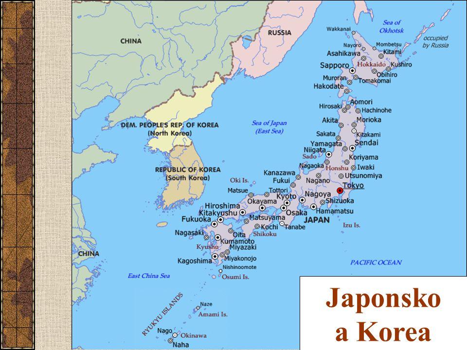 Japonsko bohaté 29 400 US$ na obyvatele (PPP, 2004) nejbohatší stát ve východní Asii 15.