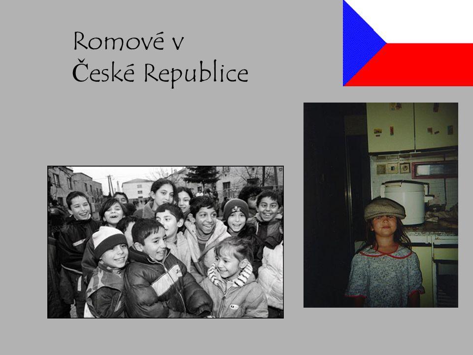 Historie (Holocaust Romů) Většina Romů deportovaných do Osvětimi.