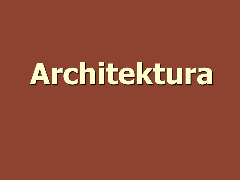 Architektura nové typy a druhy staveb nové typy a druhy staveb nová technologie nová technologie – plná zeď – klenba – spojení sloupu s archivoltou (obloukem) kompozitní hlavice kompozitní hlavice použitý materiál: použitý materiál: – kámen, cihly, beton