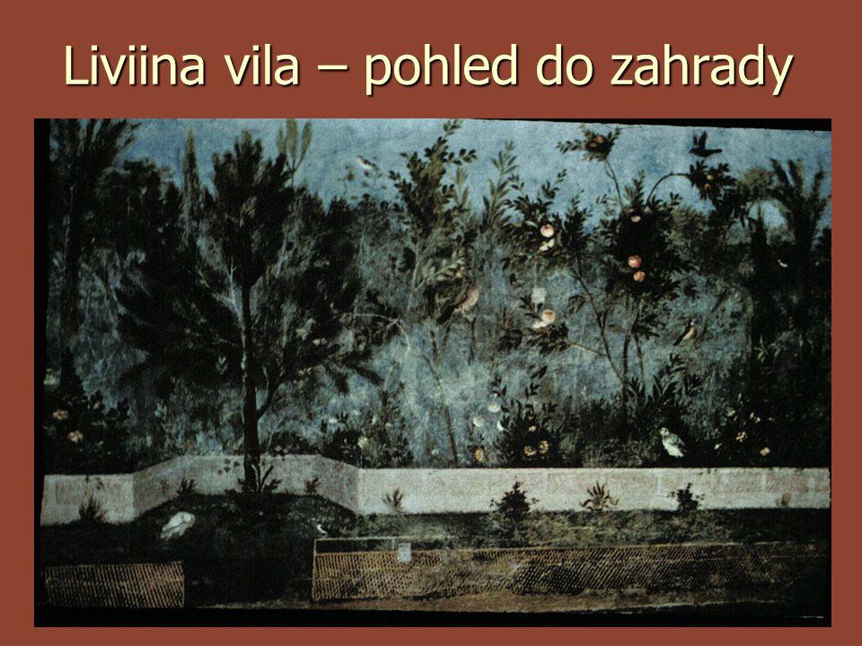 Liviina vila – pohled do zahrady