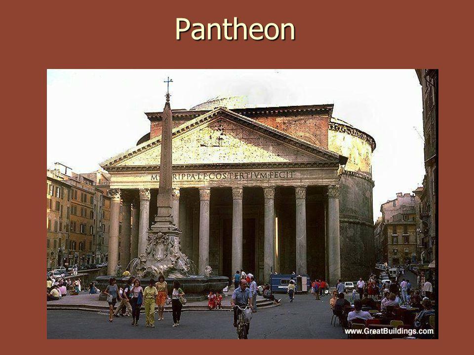 Pantheon Pantheon r.27 př.n.l. dal vystavět Agrippa r.