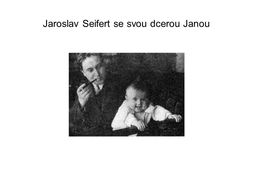 Jaroslav Seifert se svou dcerou Janou