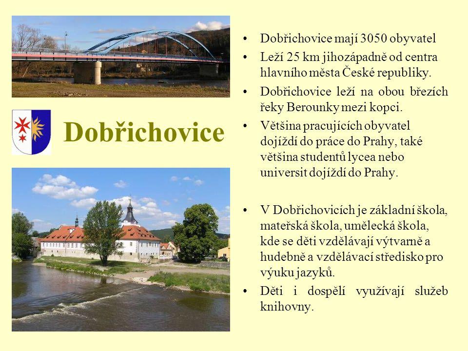Dobřichovice Dobřichovice mají 3050 obyvatel Leží 25 km jihozápadně od centra hlavního města České republiky.