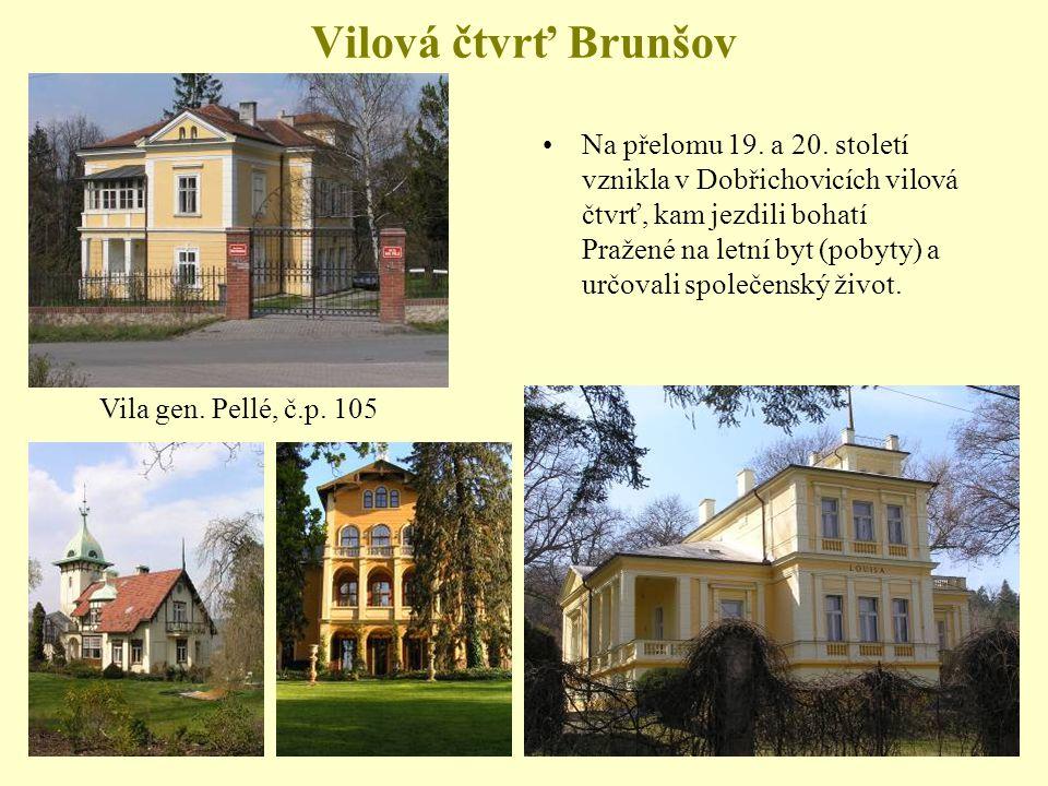Vilová čtvrť Brunšov Na přelomu 19.a 20.
