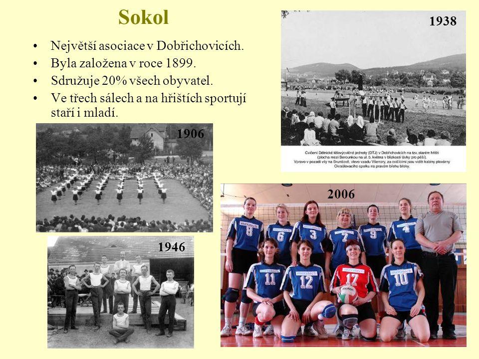 Sokol Největší asociace v Dobřichovicích.Byla založena v roce 1899.