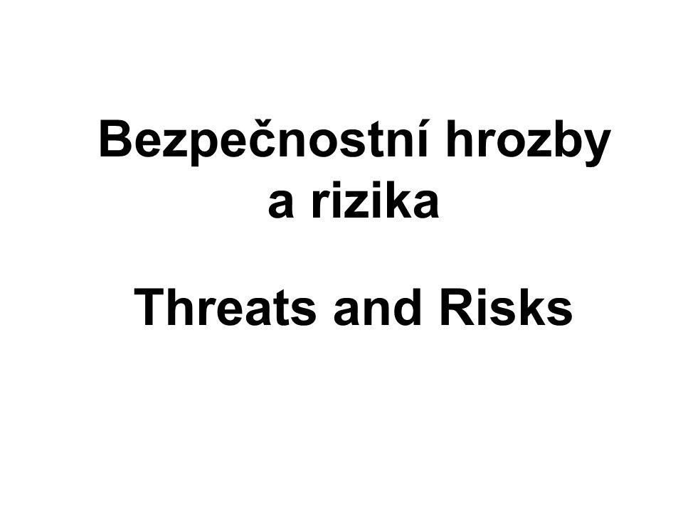 Bezpečnostní hrozby a rizika Threats and Risks
