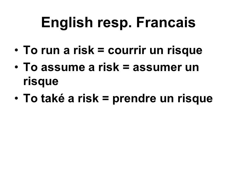 English resp.