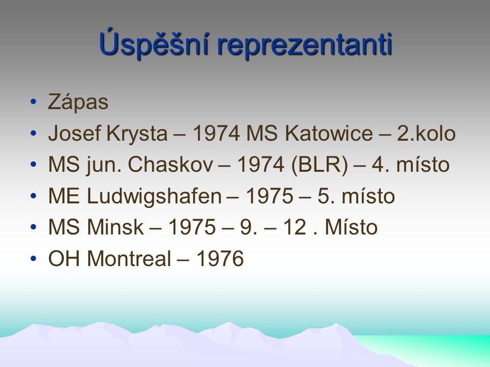 Úspěšní reprezentanti Zápas Josef Krysta – 1974 MS Katowice – 2.kolo MS jun.