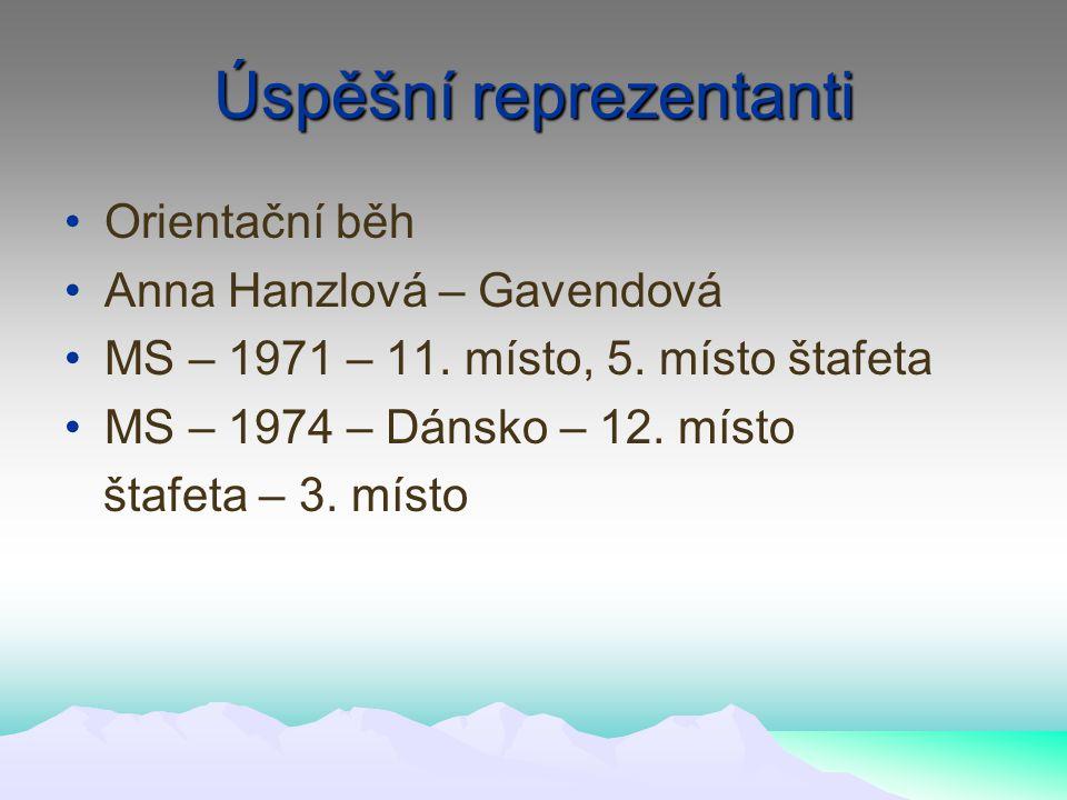 Úspěšní reprezentanti Orientační běh Anna Hanzlová – Gavendová MS – 1971 – 11.