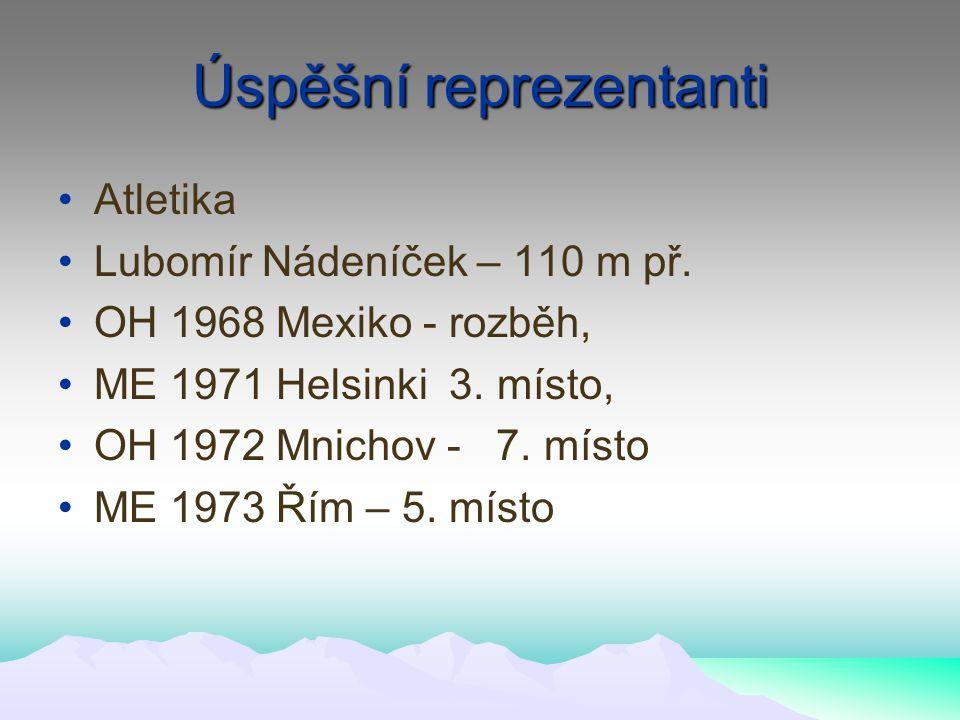 Úspěšní reprezentanti Atletika Lubomír Nádeníček – 110 m př.