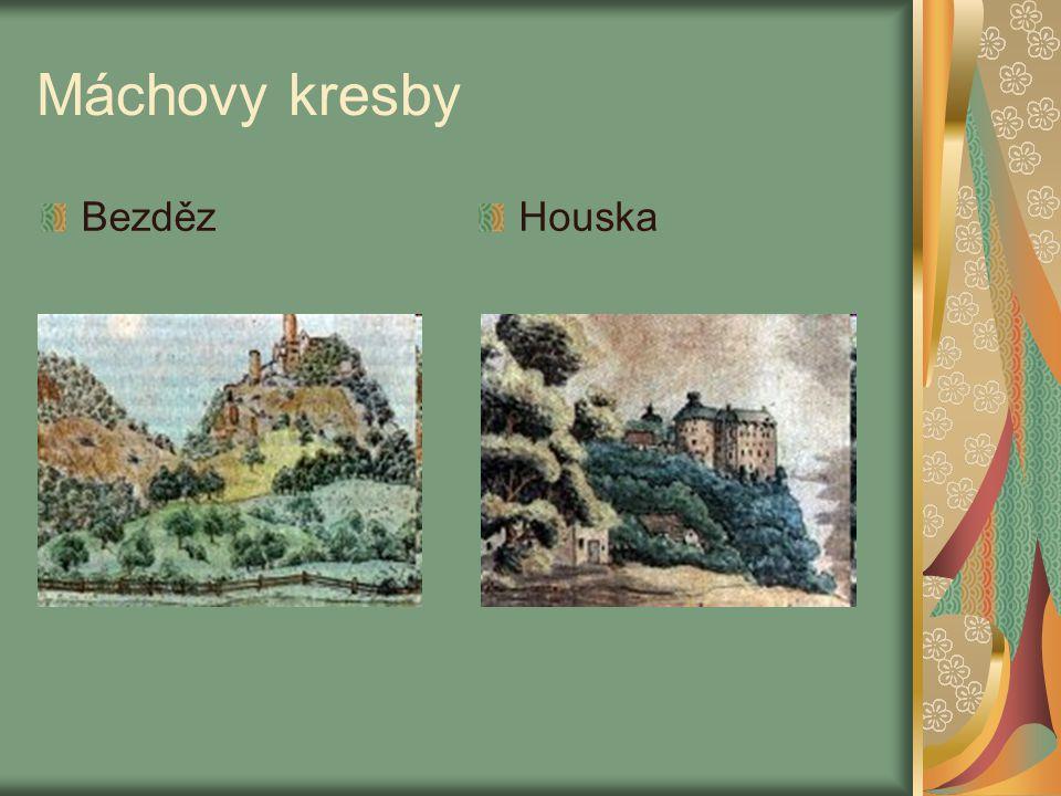 Máchovy kresby KarlštejnOkoř