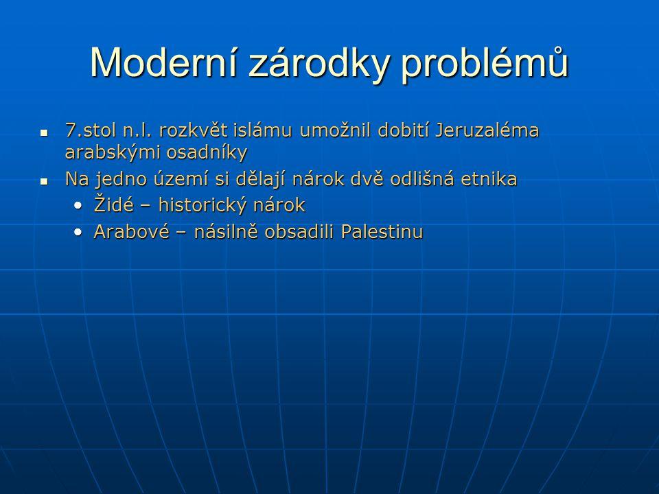 Moderní zárodky problémů 7.stol n.l.