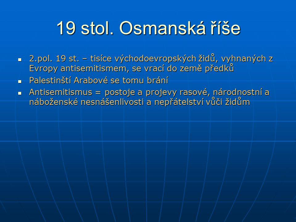 19 stol.Osmanská říše 2.pol. 19 st.