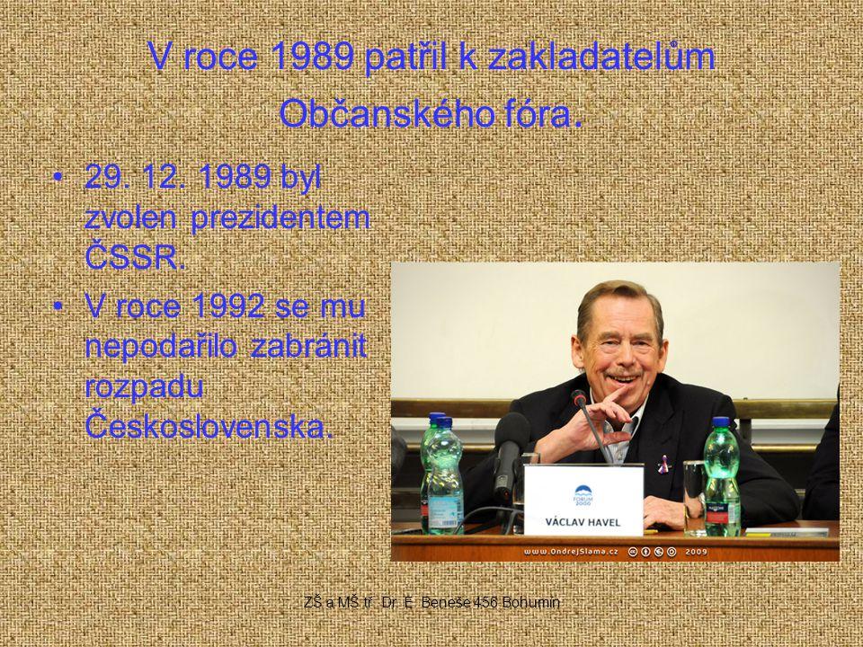 V roce 1989 patřil k zakladatelům Občanského fóra.