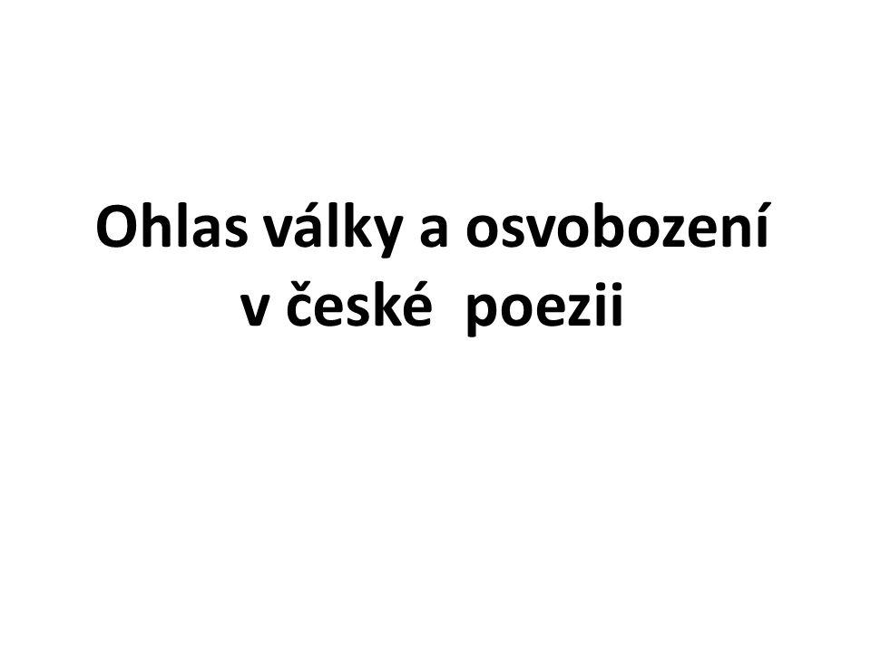 Ohlas války a osvobození v české poezii