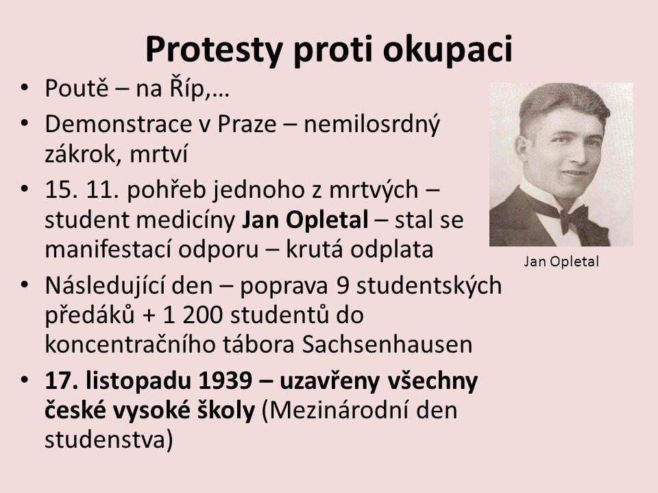 Protesty proti okupaci Poutě – na Říp,… Demonstrace v Praze – nemilosrdný zákrok, mrtví 15.