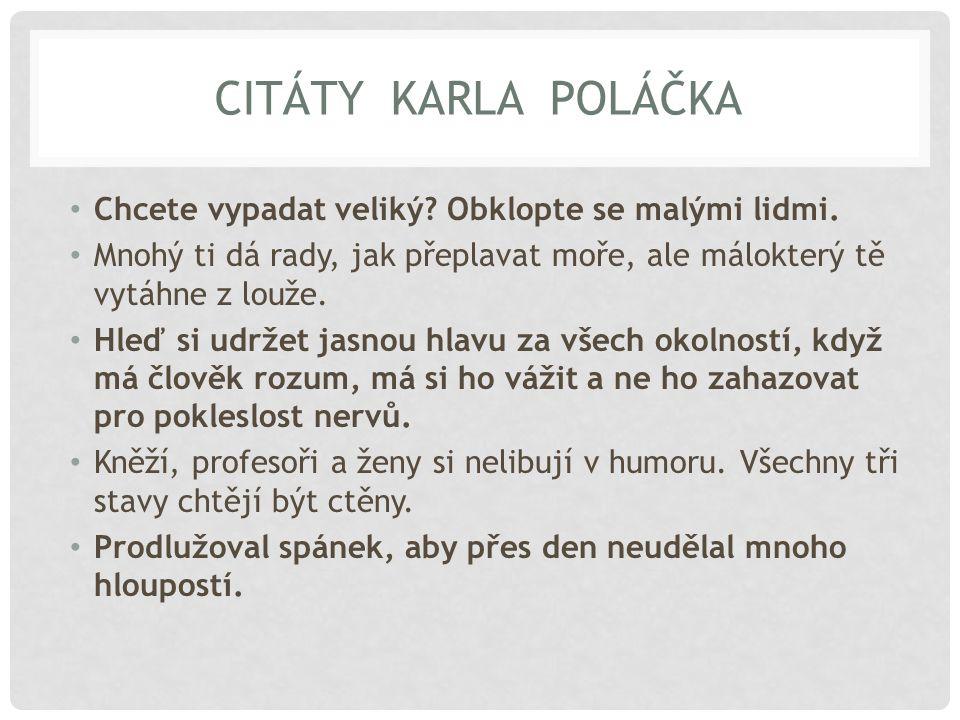 KAREL POLÁČEK V DATECH Obr. 1 Obr. 2 Obr. 3 Obr. 4