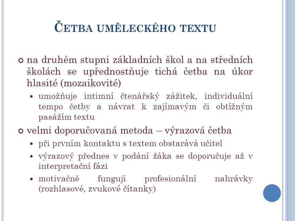 U MĚLECKÝ PŘEDNES V PODÁNÍ J OSEFA S OMRA pořad Povídky z 20.