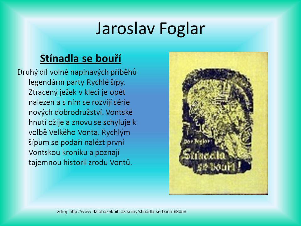 Jaroslav Foglar Stínadla se bouří Druhý díl volné napínavých příběhů legendární party Rychlé šípy. Ztracený ježek v kleci je opět nalezen a s ním se r