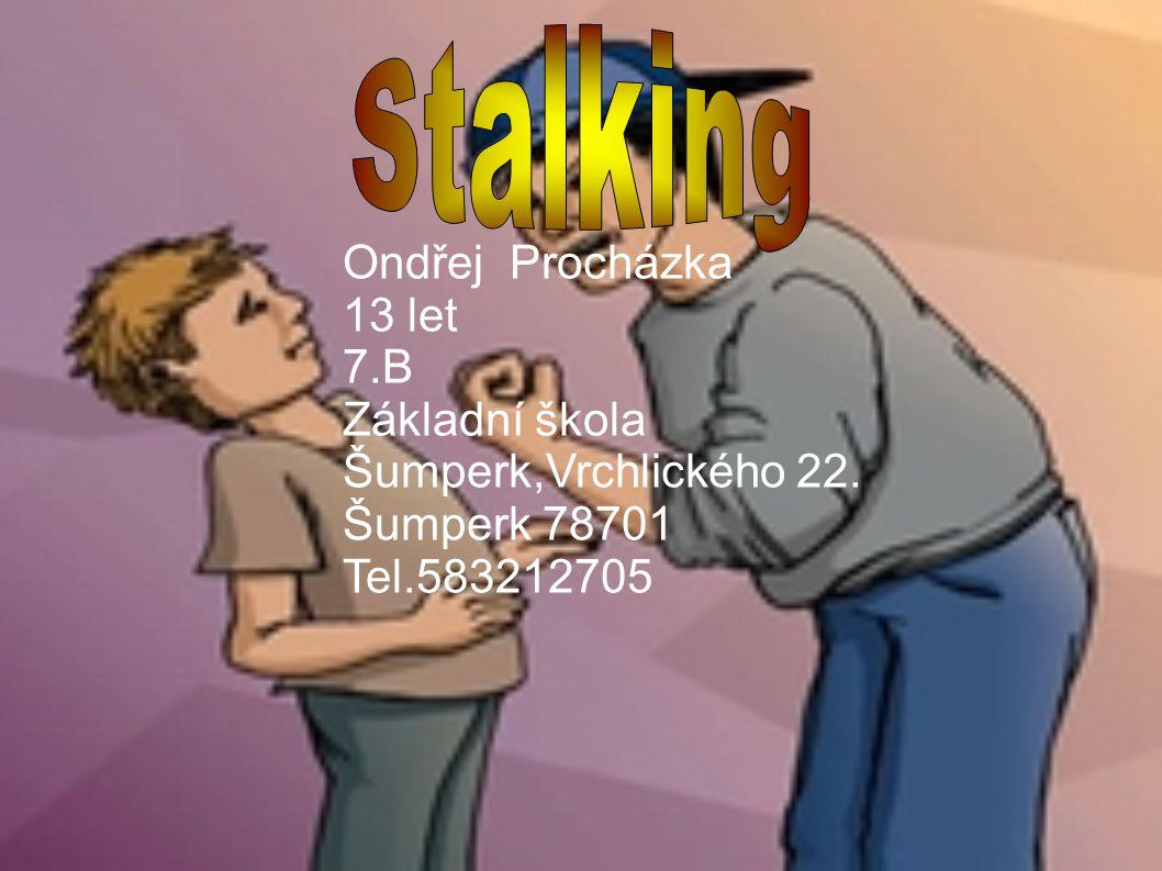 Ondřej Procházka 13 let 7.B Základní škola Šumperk,Vrchlického 22. Šumperk 78701 Tel.583212705
