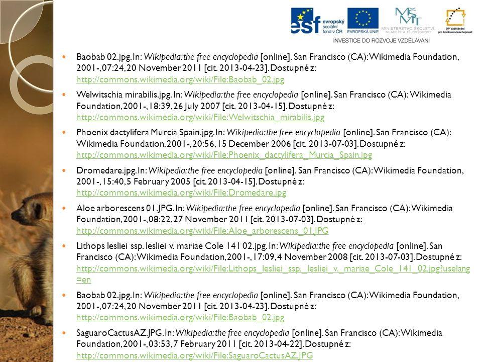 Baobab 02.jpg. In: Wikipedia: the free encyclopedia [online]. San Francisco (CA): Wikimedia Foundation, 2001-, 07:24, 20 November 2011 [cit. 2013-04-2