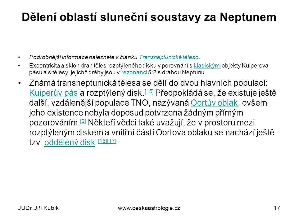 3) KUIPERŮV PÁS JUDr. Jiří Kubíkwww.ceskaastrologie.cz18