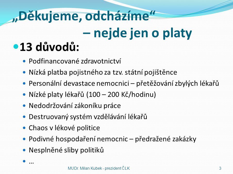 Méně krást, méně korumpovat České zdravotnictví je sice chronicky podfinancované, ale peníze na zvýšení platů lékařů, a tím i zastavení jejich exodu, lze snadno najít v rezervách.
