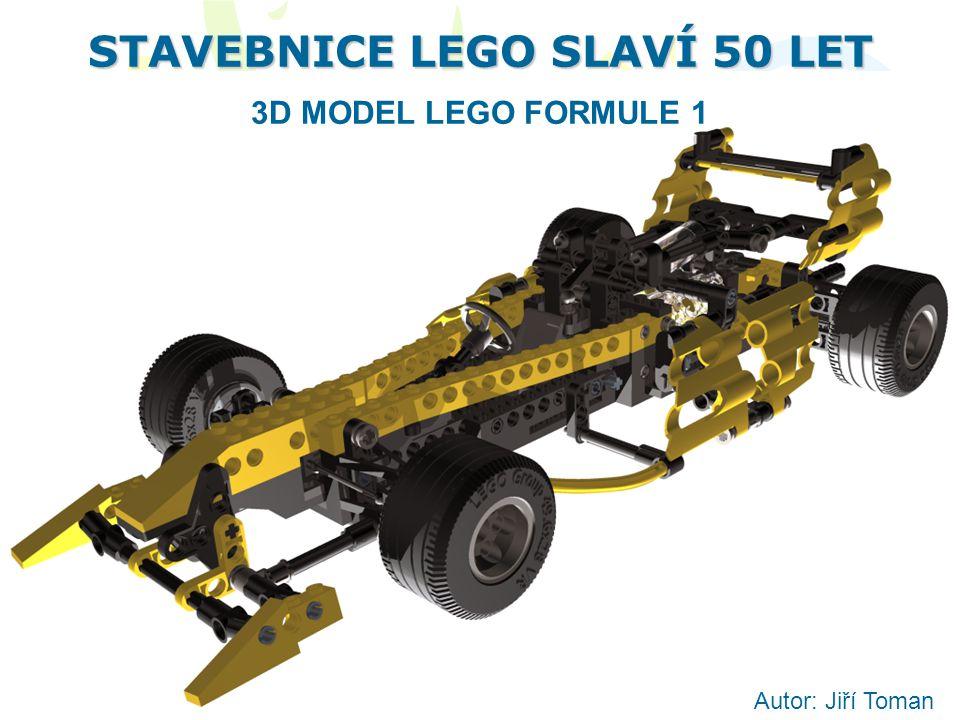 STAVEBNICE LEGO SLAVÍ 50 LET 3D MODEL LEGO FORMULE 1 Autor: Jiří Toman