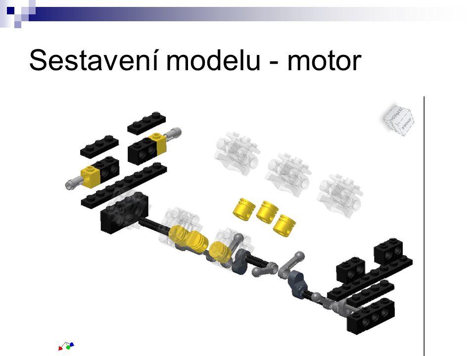 Sestavení modelu - motor