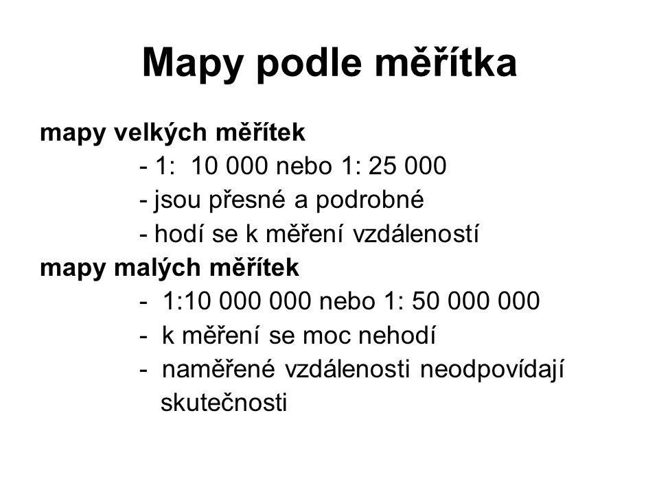 Převody jednotek 1 km = 1 000m = 100 000 cm → škrtneme 5 nul Př: 1: 200 000 = 1 cm na mapě = 200 000 cm ve skutečnost tzn.