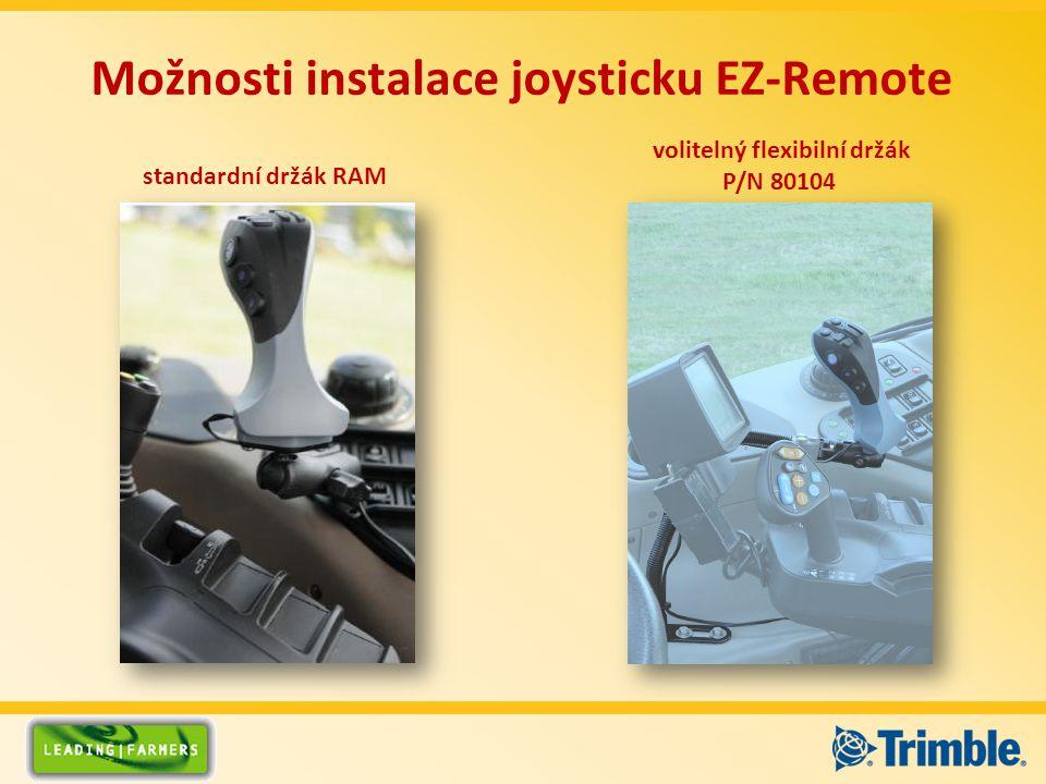 Možnosti instalace joysticku EZ-Remote standardní držák RAM volitelný flexibilní držák P/N 80104