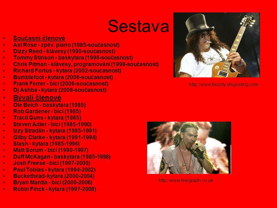 Sestava Současní členové Axl Rose - zpěv, piano (1985-současnost) Dizzy Reed - klávesy (1990-současnost) Tommy Stinson - baskytara (1998-současnost) C