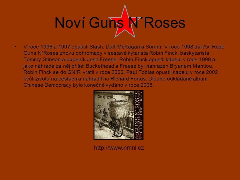 Noví Guns N´Roses V roce 1996 a 1997 opustili Slash, Duff McKagan a Sorum. V roce 1998 dal Axl Rose Guns N´Roses znovu dohromady v sestavě kytarista R
