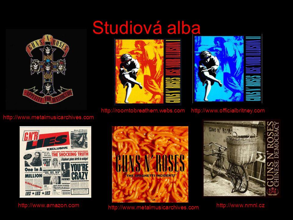 Studiová alba http://roomtobreathem.webs.comhttp://www.officialbritney.com http://www.amazon.com http://www.metalmusicarchives.com http://www.nmnl.cz