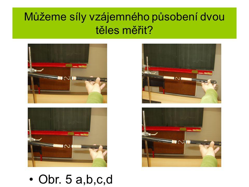Můžeme síly vzájemného působení dvou těles měřit? Obr. 5 a,b,c,d