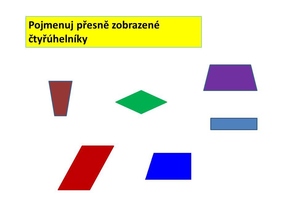 Pojmenuj přesně zobrazené čtyřúhelníky