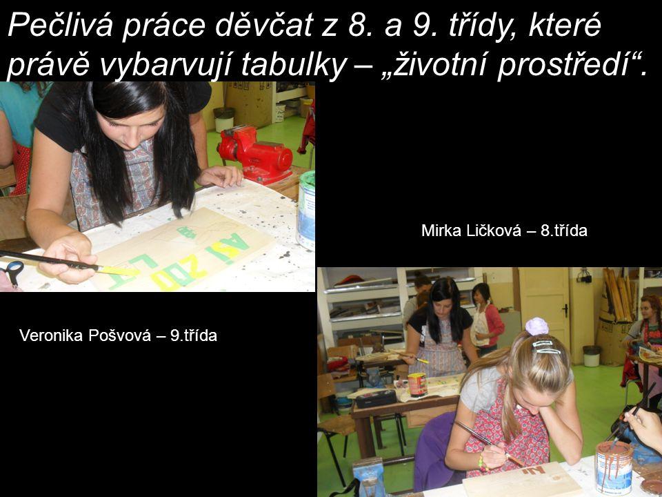 Tereza Péčová a Bára Zámečníková 8.třída Andrea Stárková a Renata Mrňková 9.
