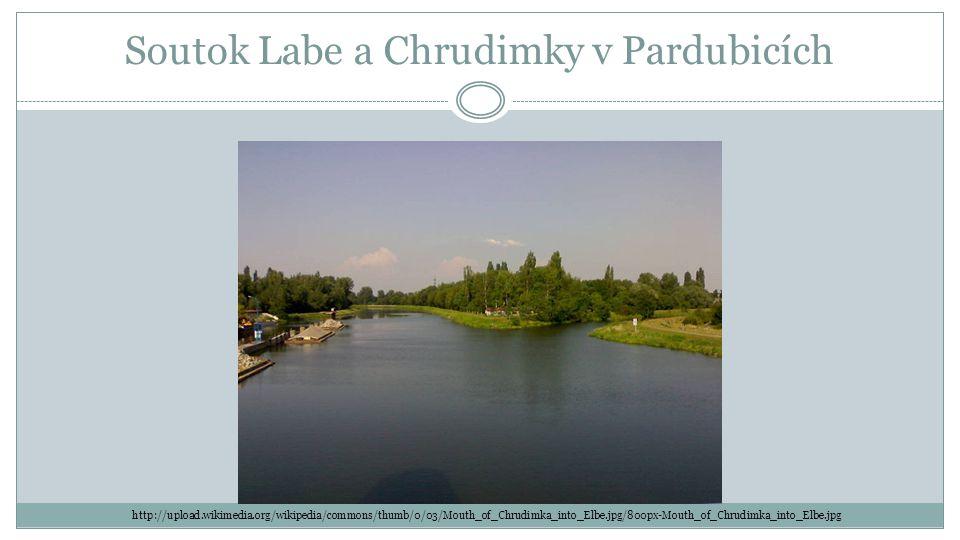 Soutok Labe a Chrudimky v Pardubicích http://upload.wikimedia.org/wikipedia/commons/thumb/0/03/Mouth_of_Chrudimka_into_Elbe.jpg/800px-Mouth_of_Chrudimka_into_Elbe.jpg