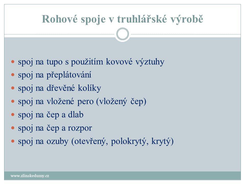Spoj na přeplátování www.zlinskedumy.cz Tento spoj nevyžaduje složitou přípravu a řeší se jak strojně tak i ručně.