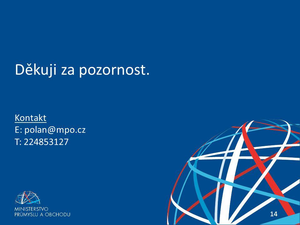 Sociální bydlení – impulz pro české stavebnictví 14 Kontakt E: polan@mpo.cz T: 224853127 Děkuji za pozornost.
