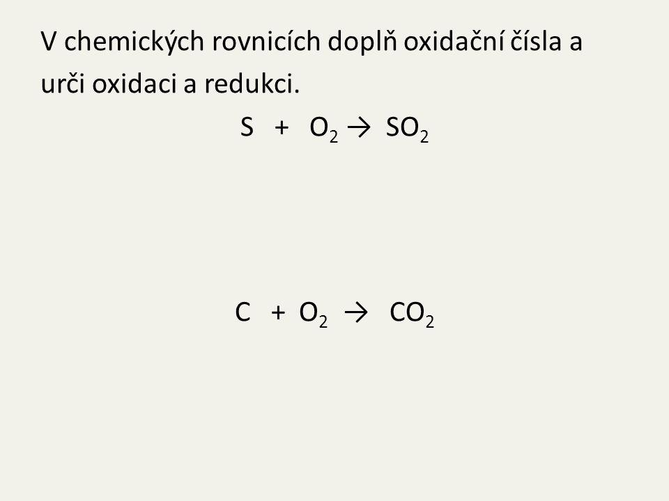 Fe 2 O 3 + 3C → 2Fe + 3CO NaOH + HCl → NaCl + H 2 O
