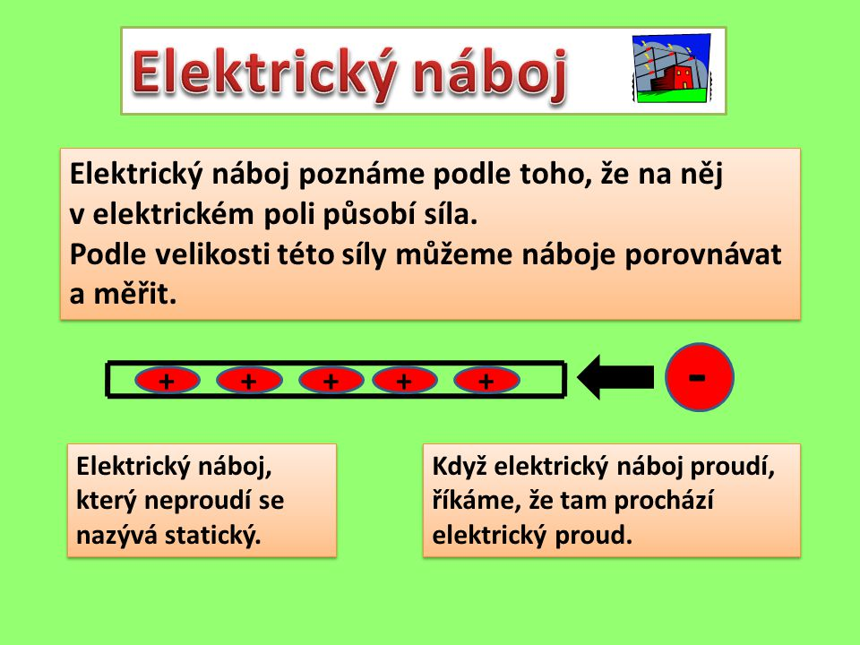Elektrický náboj poznáme podle toho, že na něj v elektrickém poli působí síla. Podle velikosti této síly můžeme náboje porovnávat a měřit. Elektrický
