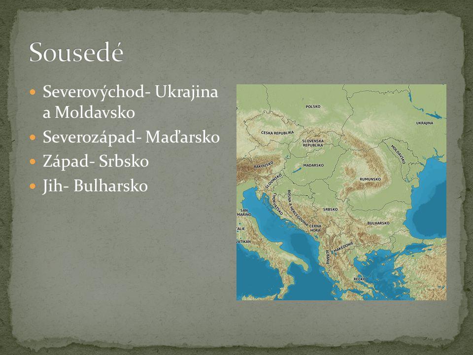 Hl.řeka: Dunaj, Prut Východní stranu omývá Černé moře