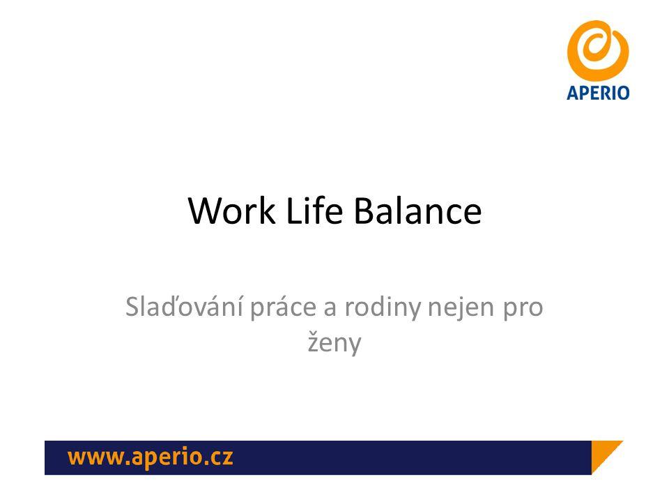 Work Life Balance Slaďování práce a rodiny nejen pro ženy