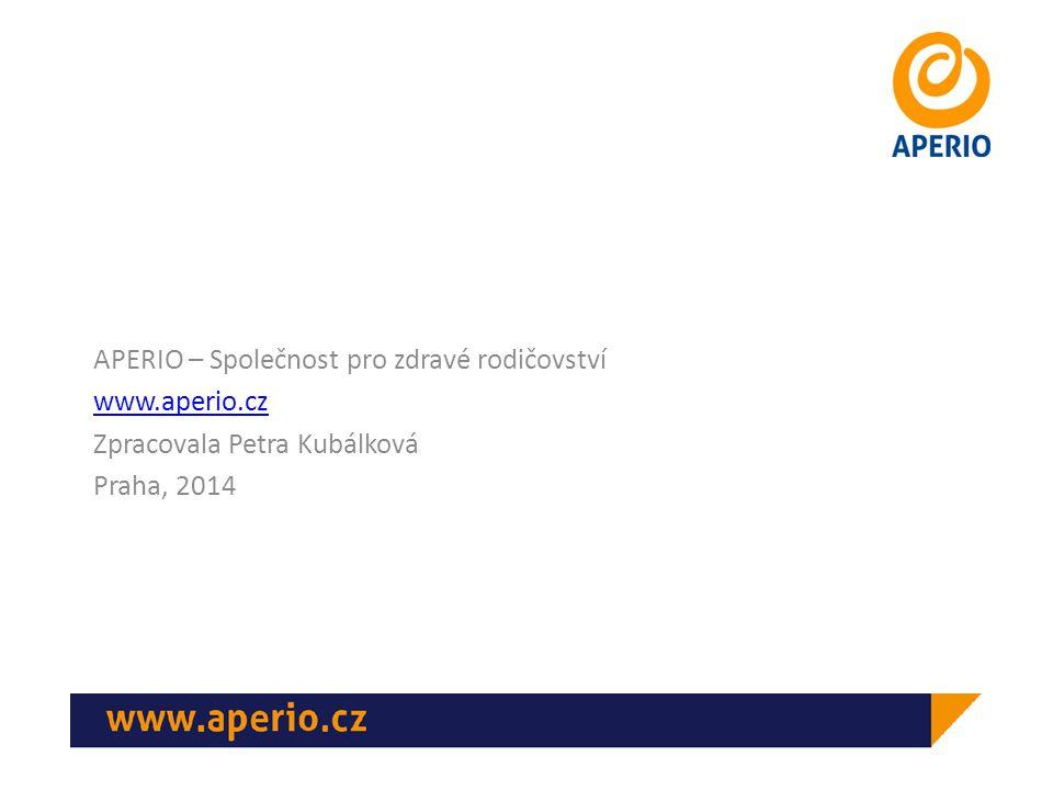 APERIO – Společnost pro zdravé rodičovství www.aperio.cz Zpracovala Petra Kubálková Praha, 2014
