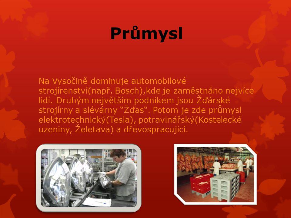 Průmysl Na Vysočině dominuje automobilové strojírenství(např.