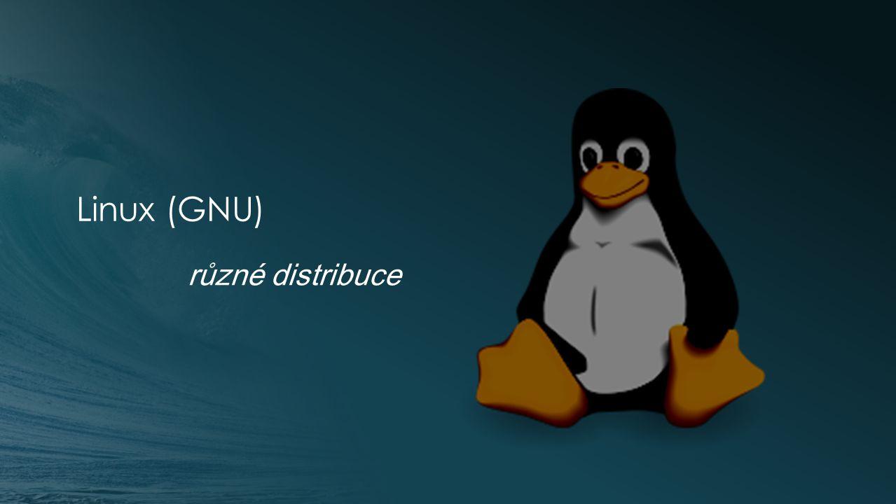 Linux Je zdarma a volně šiřitelný.Dělí se na tzv.
